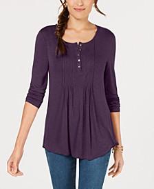 Long-Sleeve Pintuck Top, Created for Macy's