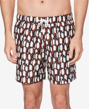 """ORIGINAL PENGUIN Men'S Penguin 6"""" Swim Trunks in Picante"""