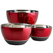 Epicurious Stainless Steel Set of 3 Mixing Bowls with Silicone Base