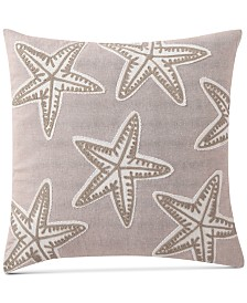 Starfish Embroidered 18x18 Pillow