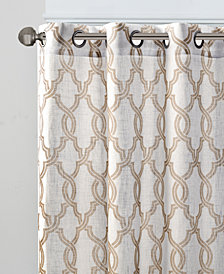 "Madison Park Bond Fretwork 50"" x 84"" Grommet Window Panel"