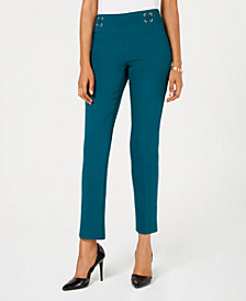 JM Collection Pull-On Straight-Leg Pants, Created for Macy's