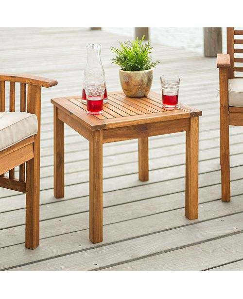 Remarkable Outdoor Classic Acacia Wood Patio Chairs And Side Table Brown Lamtechconsult Wood Chair Design Ideas Lamtechconsultcom