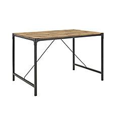 "48"" Angle Iron Wood Dining Table, Barnwood"