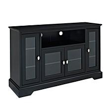 "52"" Wood Highboy TV Media Stand Storage Console"