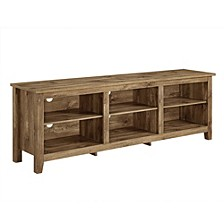 "70"" Wood Media TV Stand Storage Console - Barnwood"