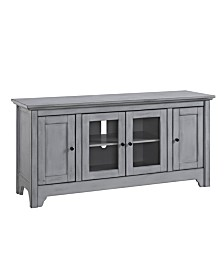 "52"" Wood TV Media Stand Storage Console - Antique Grey"