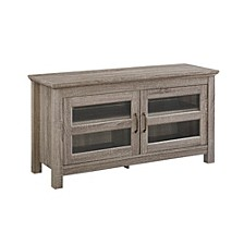 """44"""" Transitional Wood Media TV Stand Storage Console - Driftwood"""