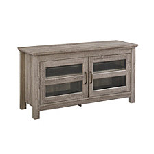 "44"" Transitional Wood Media TV Stand Storage Console - Driftwood"