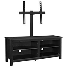 "58"" Wood Media TV Stand Console with Mount - Black"