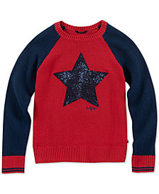 Tommy Hilfiger Big Girls Sequin Star Sweater