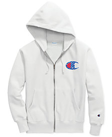 Champion Men's Reverse-Weave Logo Zip Hoodie