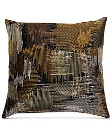 """THRO Jack Zig Zag Stitch Satin 20"""" x 20"""" Decorative Pillow"""