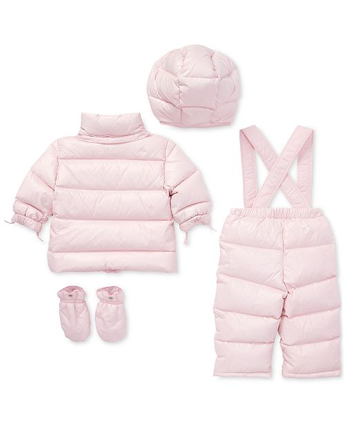 af2dacdb5 Polo Ralph Lauren Baby Girls Quilted Snowsuit   Reviews - Coats ...