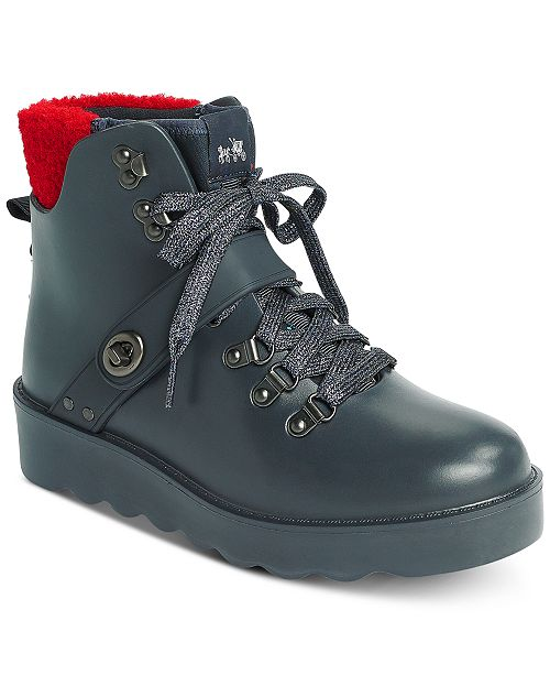 62368265696 COACH Urban Hiker Rubber Booties & Reviews - Boots - Shoes ...