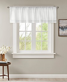 "Emily 50"" x 18"" Faux Silk Pleated Rod Pocket Window Valance"