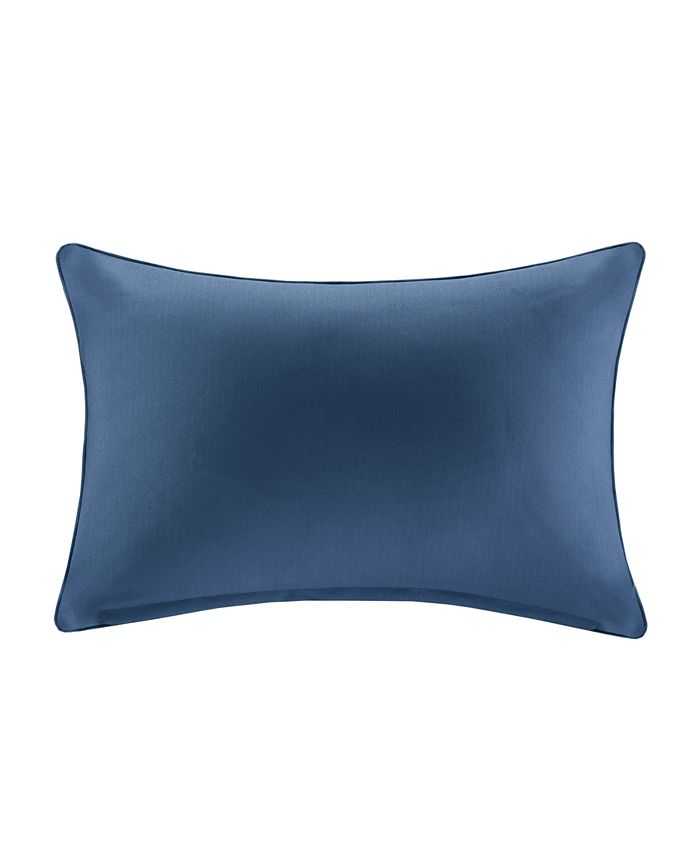 """Madison Park - Pacifica 14"""" x 20"""" Solid 3M Scotchgard Outdoor Oblong Pillow"""