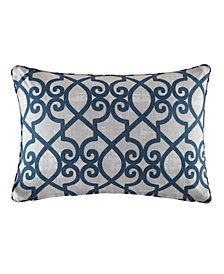"Madison Park Daven 14"" x 20"" Fretwork 3M Scotchgard Outdoor Oblong Pillow"