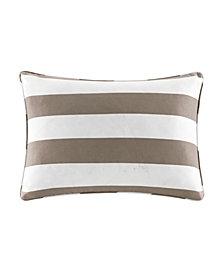 "Madison Park Percee 14"" x 20"" Printed Cabana Stripe 3M Scotchgard Outdoor Oblong Pillow"