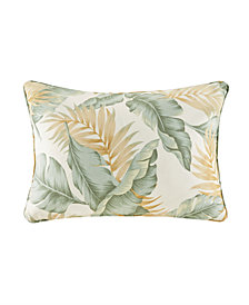 "Madison Park Coco 14"" x 20"" Printed Leaf 3M Scotchgard Outdoor Oblong Pillow"