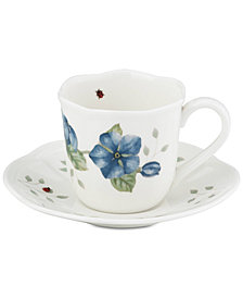 Lenox Butterfly Meadow Espresso Cup/Saucer Set