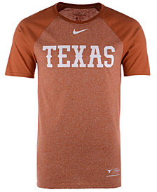 Nike Men's Texas Longhorns Marled Raglan T-Shirt