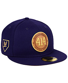 New Era Milwaukee Brewers Area Patch 59FIFTY FITTED Cap