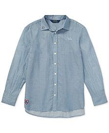 Polo Ralph Lauren Big Girls Embroidered Cotton Shirt