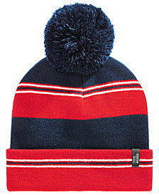 Steve Madden Men's Colorblocked Pom Pom Beanie