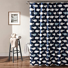 "Whale 72""x 72"" Shower Curtain"