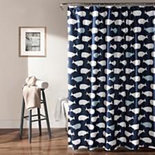 "Whale 72""x 72"" Shower Curtain"