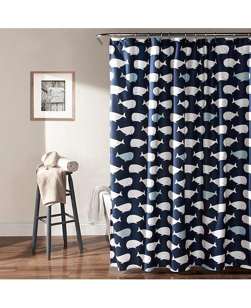 Lush Decor Whale 72x 72 Shower Curtain