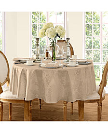 "Elrene Barcelona  Beige 90"" Round  Tablecloth"