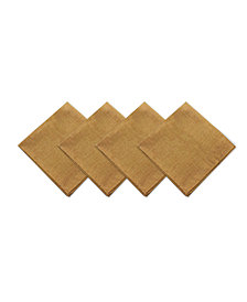 Elrene Pennington Gold Set of 4 Napkins
