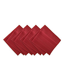 Elrene Denley Stripe Set of 4 Red Napkins