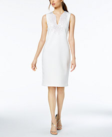 Calvin Klein Crystal-Embellished Sheath Dress