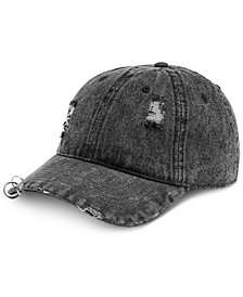 I.N.C. Men's Denim Grunge Cap, Created for Macy's