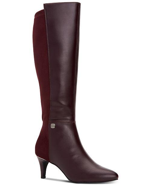 Alfani Women's Step 'N Flex Hakuu Wide-Calf Dress Boots, Created for Macy's