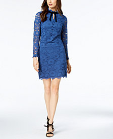 Nanette by Nanette Lepore Keyhole Lace Sheath Dress, Created for Macy's