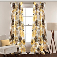 "Leah Floral 52"" x 84"" Curtain Set"