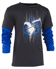 Under Armour Little Boys Football Graphic Slider Shirt
