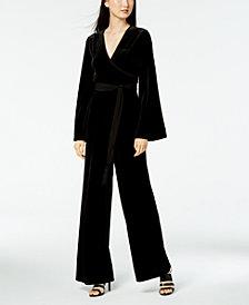 Calvin Klein Wide-Leg Velvet Jumpsuit