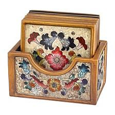7-Piece Gemstone Sand Coaster Set