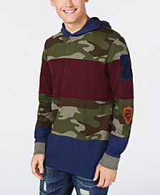 American Rag Men's Pattern-Blocked Hoodie, Created for Macy's