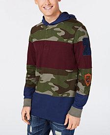 American Rag Men's Pattern-Blocked Hoodie, Created for Macy's