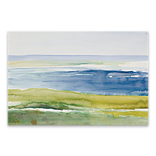 Cape Cod Beach Hand Embellished Canvas