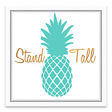 Stand Tall Framed Printed Canvas