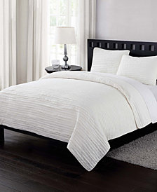 London Fog Garment Washed Crinkle Twin XL Quilt Set