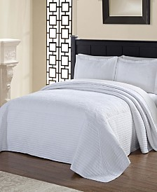 French Tile Quilted Bedspread Collection