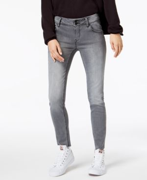 HUDSON Collin Mid-Rise Skinny Ankle Jeans in Trooper Grey